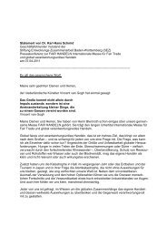 FAIR HANDELN 2011: Statement von Dr. Karl-Hans - Stiftung ...