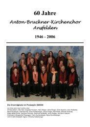 60 Jahre - Anton Bruckner Kirchenchor Ansfelden