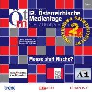 12. Österreichische Medientage - News