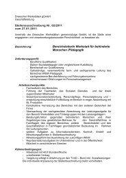 BereichsleiterIn Werkstatt für behinderte Menschen /Pädagogik