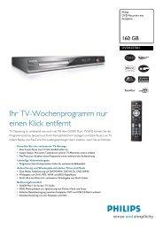 Datenblatt DVDR3570H - Philips