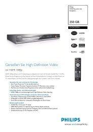 Datenblatt DVDR3595H - Philips