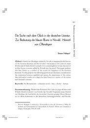 Die Suche nach dem Glück in der deutschen Literatur ... - fflch - USP