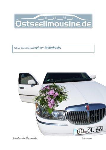 Katalog Blumenschmuck auf der Motorhaube - Ostseelimousine