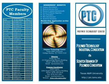 Brochure - Polymer Technology Center - Texas A&M University