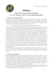1. Bulletin - Astroteilchenschule - Universität Erlangen-Nürnberg