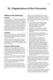 XI. Organization of the University - Colgate University