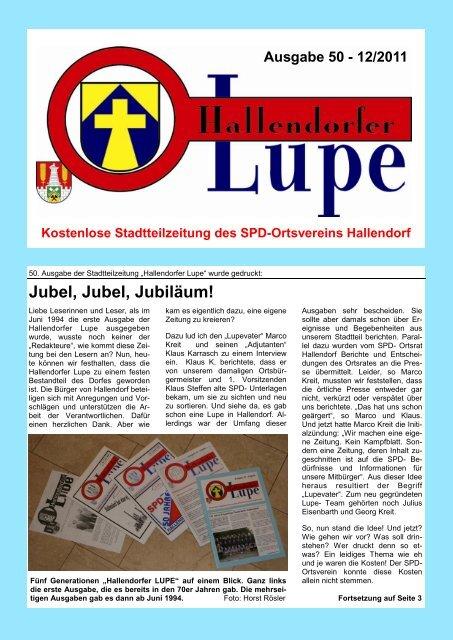 Liebe Hallendorferinnen, Liebe Hallendorfer - SPD-Hallendorf