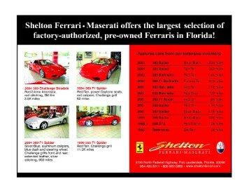 Red Experience! - The Original Florida Region Ferrari Club of America