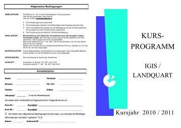 KURS- PROGRAMM - Frauenverein Igis