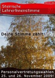 Personalvertretungswahl 2009 Liste 2 - SLÖ - Steiermark