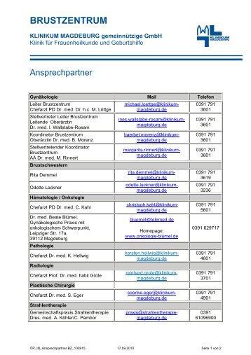BRUSTZENTRUM - Städtisches Klinikum Magdeburg