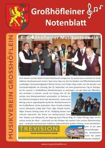 5. Jänner: Musikerball im Gemeindesaal - Musikverein Großhöflein