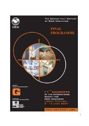 FINAL PROGRAMME - ISRM