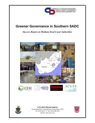 Greener Governance in Southern SADC - ICLEI