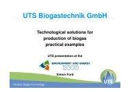 UTS Biogastechnik GmbH - BT 1