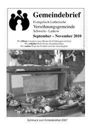 Gemeindebrief - Versöhnungsgemeinde Schwerin-Lankow