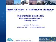 Need for action in Intermodal Transport - Promit