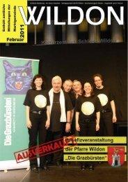 Hier können Sie die Gemeindezeitung von Februar 2011 - Wildon