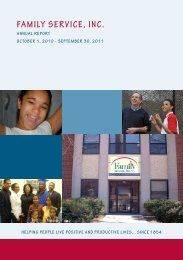 2011 Annual Report - Family Service Inc.