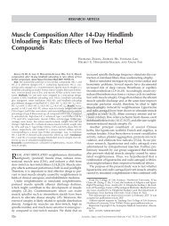 Muscle Composition After 14-Day Hindlimb Unloading in Rats ...