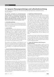 12. Speyerer Planungsrechtstage und Luftverkehrsrechtstag