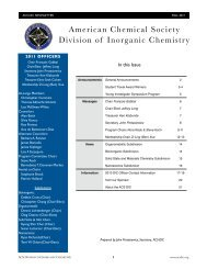 Program - Inorganic and Physical Chemistry - Indian