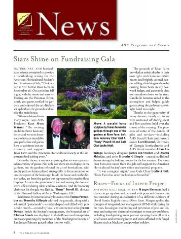 Stars Shine on Fundraising Gala - American Horticultural Society