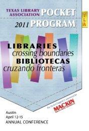 2011 Pocket Program - Texas Library Association