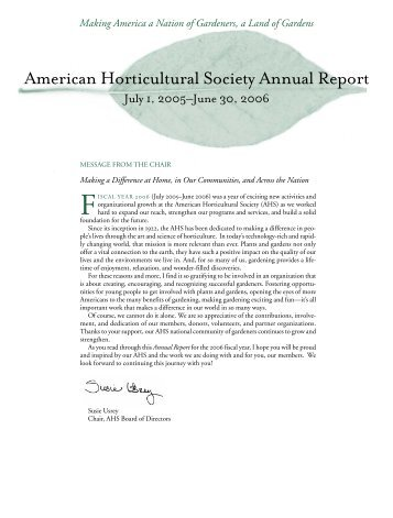 Making - American Horticultural Society