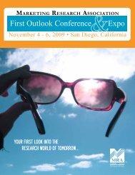 Conference program - Marketing Research Association