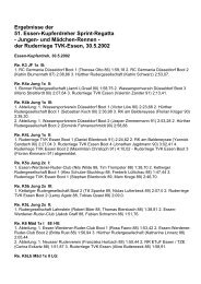 und Mädchen-Rennen - der Ruderriege TVK-Essen, 30.5.2002