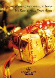 frohe weihnachten wünscht ihnen ihr renaissance wien hotel