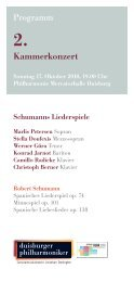 2. Kammerkonzert - Die Duisburger Philharmoniker