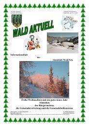 Informationsblatt der Gemeinde Wald/Sch. Frohe Weihnachten und ...