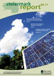 Steiermark Report Juni 2011 - einseitige Ansicht - Kommunikation ...