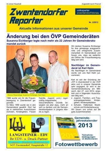 Zwentendorfer Reporter 2/2012 - Oevp Zwentendorf