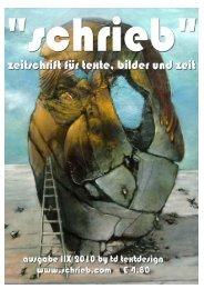 Die Zeitschrift für Texte, Bilder und Zeit - Verlag TD Textdesign