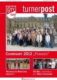 """CHORFAHRT 2012 """"FRANKEN"""" - Gütersloher Turnverein von 1879 ..."""