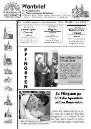 Zu Pfingsten ge- hört die Spenden- aktion Renovabis