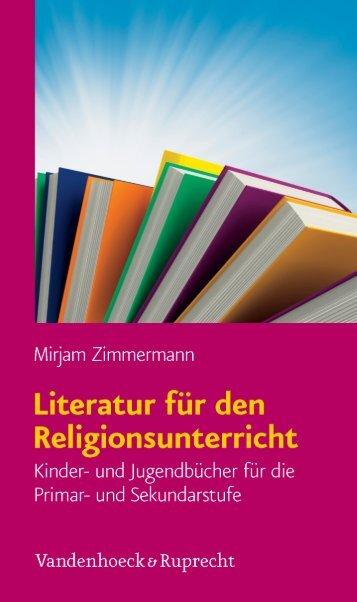 Literatur für den Religionsunterricht - Vandenhoeck & Ruprecht