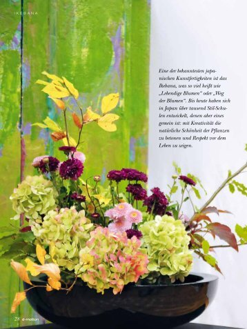 Artikel dmotion 03/11 Ausstellung im Eko-Haus - Ikebana ...