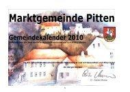 Gemeindekalender 2010 - Pitten