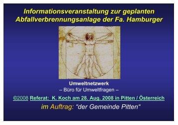 Informationsveranstaltung zur geplanten ... - Pitten