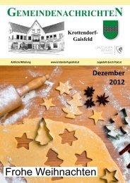 Gemeindezeitung Dezember 2012 - Gemeinde Krottendorf-Gaisfeld
