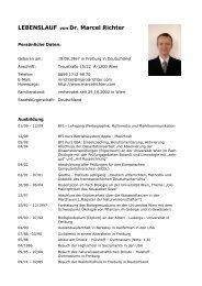 Lebenslauf von Dr. Marcel Richter
