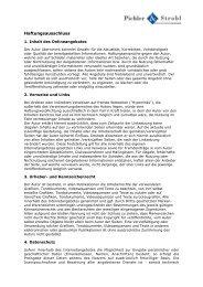 Haftung - Pichler & Strobl Maschinenbau.