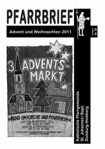 PFARRBRIEF Advent und Weihnachten 2011