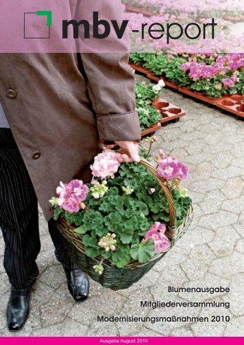 Blumenausgabe Mitgliederversammlung ... - Mettmanner Bauverein