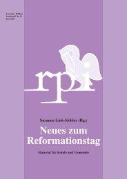 Neues zum Reformationstag - Religionspädagogisches Institut ...